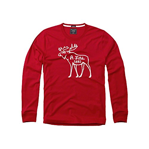 Abercrombie & Fitch -  Maglia a manica lunga  - Uomo Red Large