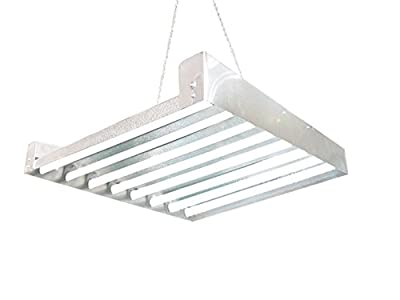 T5 Grow Light (2ft 8lamps) DL8208 HO Fluorescent Hydroponic Fixture Bloom Veg Daisy Chain with Bulbs