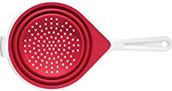 Chef'n SleekStor Collapsible Colander Medium 8-Inch Diameter, Cherry/Meringue