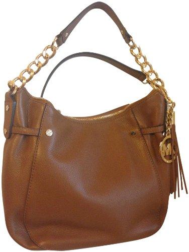 MICHAEL Michael KorsMichael Kors Megan Genuine Leather Medium Messenger Luggage