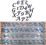 FMM Upper Case Script Alphabet & Number Tappit Cutters Set