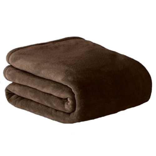 """The Big One® Plush Blanket (Brown, Full/Queen 90"""" X 96"""") front-242153"""