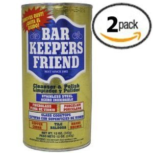 Bar Keepers Friend® Cleanser & Polish 12 Oz Two Pack (Cooktop Premium compare prices)