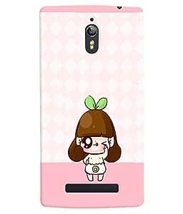 PRINTVISA Cute Cartoon Girl Case Cover for Oppo Find 7