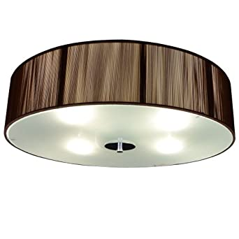 """luce Twine CORS/1C500/CO Ceiling Light with Wires 19.70"""", 4 x E27"""