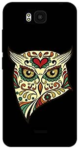 The Racoon Lean angry owl hard plastic printed back case for Huawei Honor Bee