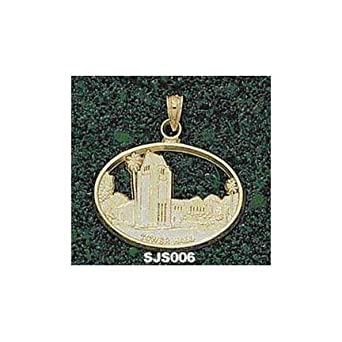 San Jose State Spartans Tower Hall Pendant - 14KT Gold Jewelry by Logo Art