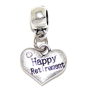 "Amazon.com: Pro Jewelry Dangling ""Happy Retirement Heart w/ Crystal"