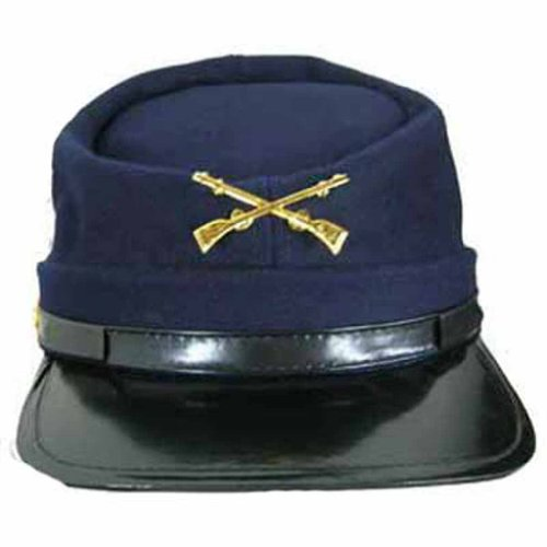 Luxury Divas Navy Blue Union Army Kepi Civil War Costume Novelty Hat