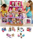 NEW!! Loving Family Dollhouse Super Bonus Set ***6 Rooms of Furniture Included*** (Caucasian Family)