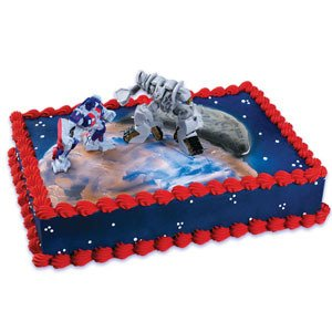OPTIMUS Prime and Megatron TRANSFORMERS Cake Topper Decoration Figures