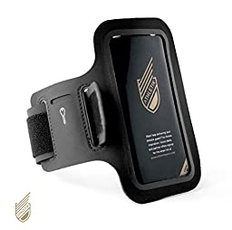 Athletik Premium Sports Armband for iPhone 4, 5, 6 with Pockets for Cash/Cards and a House Key.