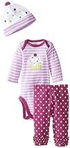 Gerber Baby-Girls Newborn 3 Piece Bod…