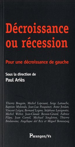 Dcroissance ou rcession