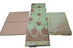 Alankar Textiles Panjabi Suit Piece Sea Green Color Cotton Dress Material