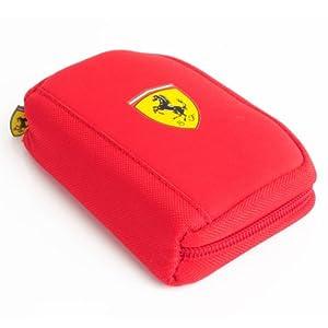 Ferrari Red Zippered Wallet