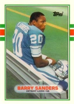 1989 Topps Traded Football #83T Barry Sanders Rookie Card