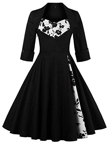 MissNina Women 50s Vintage Classic 3/4 Sleeve Bodycon Evening Bridesmaid Dress