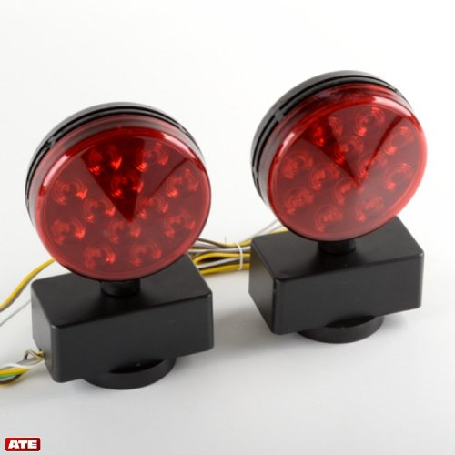 Led Magnetic Trailer Light Kit, Professional Tow Brake Lights , Universal Back Up Tow Lights