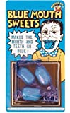 Blue Mouth Sweet of Novelty Joke Gag Tricks for Party Bag Filler Favor or Prank etc...