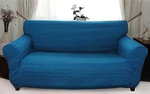 stretch husse blau hussen f r sofa 3 sitzer sofahusse k che haushalt. Black Bedroom Furniture Sets. Home Design Ideas