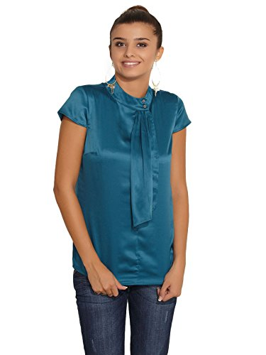 Esprit ESPRIT Ladies Fashion Neck Synthetic TOPS (Blue)