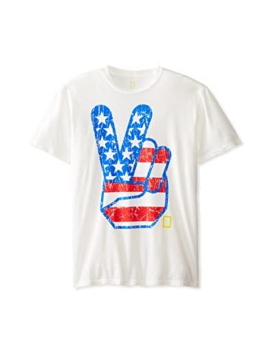 Chaser Men's Peace Sign Crew Neck T-Shirt
