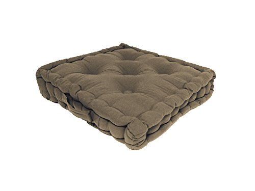 Cuscino materasso in cotone 50 x 50 x 10 cm PANAMA tortora