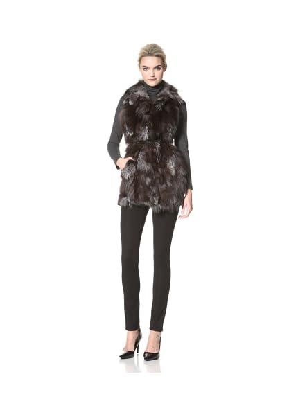 Dawn Levy Women's Candice Down Vest with Fur Trim