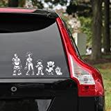 Zombie Horde Family Car Decals - Total of 52 decals