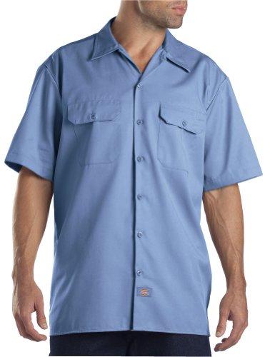 Dickies Men's Short Sleeve Work Shirt, Light Blue, 2X Large (Light Blue Short Sleeve Shirt compare prices)