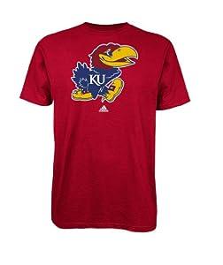 Buy adidas Kansas Jayhawks School Logo T-Shirt - Red by adidas