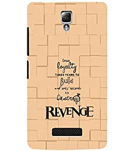 PrintDhaba QUOTE D-6949 Back Case Cover for LENOVO A2010 (Multi-Coloured)