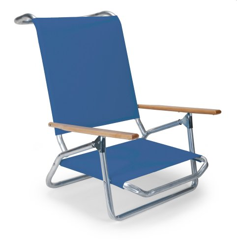 Telescope Casual Light and Easy Low Boy Folding Beach Arm Chair, Cobalt