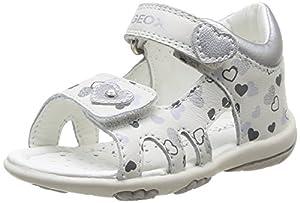 Geox B SANDAL NICELY B - Zapatos primeros pasos de cuero para niña