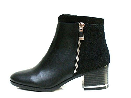 Gaudi Tronchetto Donna Dominic Zip Tacco Cm 5 Calf Pony Leather Black_35