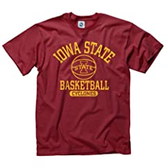Buy Iowa State Cyclones Adult Basically Basketball T-Shirt by Iowa State Cyclones