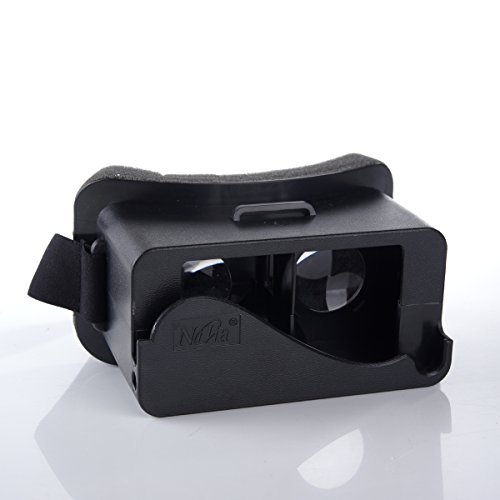 CQM 3D Virtual Reality Headset Google Cardboard Head Mount Plastic 3D VR Glasses 3D Video Games Glasses, Compatible with Apple iPhone5 5S 5C for 3D Movies and Games