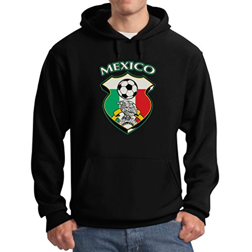 Teestars Men'S - Mexico Soccer Jersey Hoodie X-Large Black