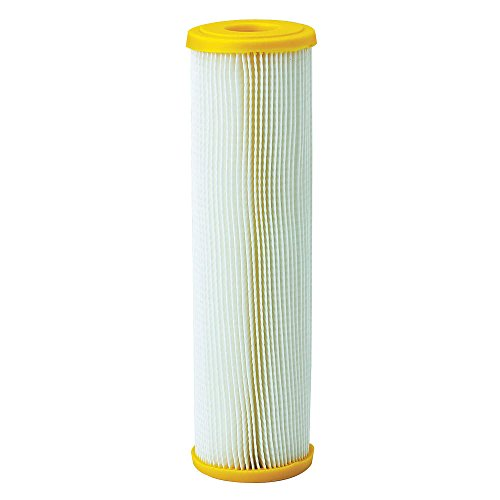 Pleated Filter Cartridge, 50 Microns, Cellulose Polyester Filter Media, 10 gpm Flow Rate - 1 Each