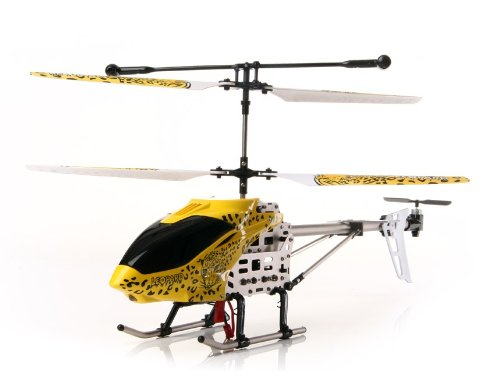 SanYing 3.5-Channel Leopard Spot Remote Control Helicopter with Gyroscope and Lights (Red)
