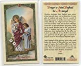 Prayer to St. Raphael the Archangel Holy Card (HC9-182E) - Laminated