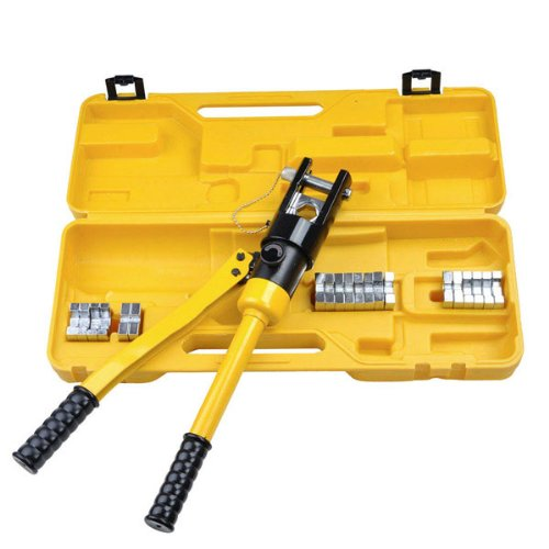 Heavy Duty Battery Wire Terminal Cable Crimper 16 Ton 11 Dies Hydraulic Powered