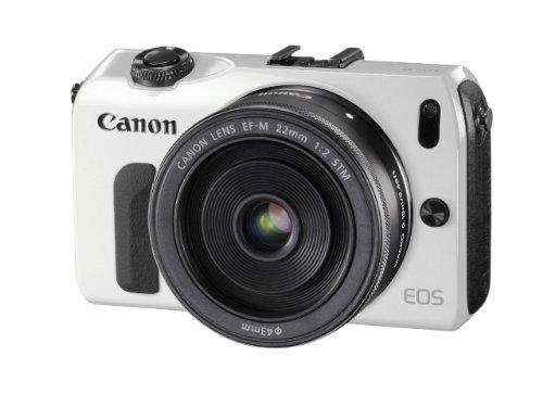 Canon ミラーレス一眼カメラ EOS M レンズキット EF-M22mm F2 STM付属 ホワイト EOSMWH-22STMLK