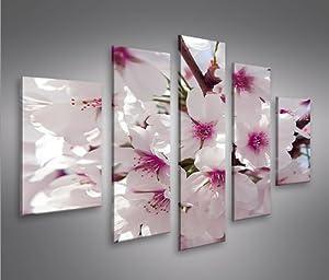 Blossom v2 mf 5 quadri moderni su tela pronti da appendere montata su pannelli in legno - Quadri moderni cucina ...