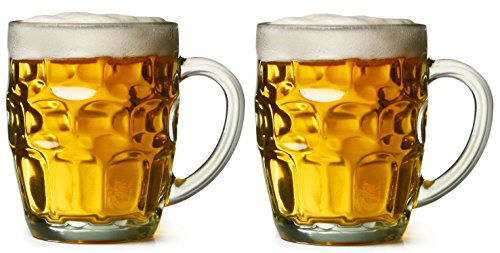 Dimple Stein Beer Mug - 19.00 Oz (2 Pack) Chefcaptain (Beer Mug Glass compare prices)