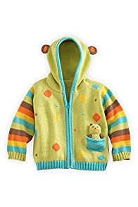 Joobles Fair Trade Organic Baby Cardigan Sweater - Huggy Bear