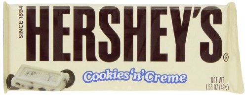 Hershey's Cookies 'n' Creme Bar, 1.55-Ounce Bar (Pack of 10) (Hershey Cookies N Cream compare prices)
