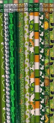 3 Dozen (36) St Patrick's Day Pencil Varied Design - 1