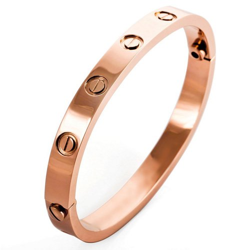 Justeel Jewelry Woman Rose Gold Screw Stainless